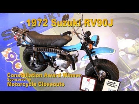 clymer manuals suzuki rv90 rv90j vintage motorcycle video walk
