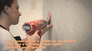 Aplicação de Tecido para parede Karsten WallDecor - Passalacqua
