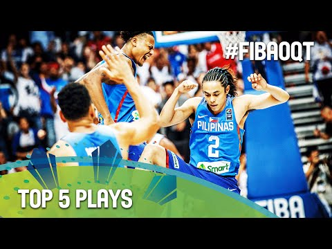 Top 5 Plays - Day 1 - 2016 FIBA Olympic Qualifying Tournament - Philippines