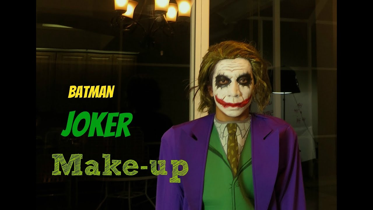 Batman-The Joker Make-up Tutorial - YouTube