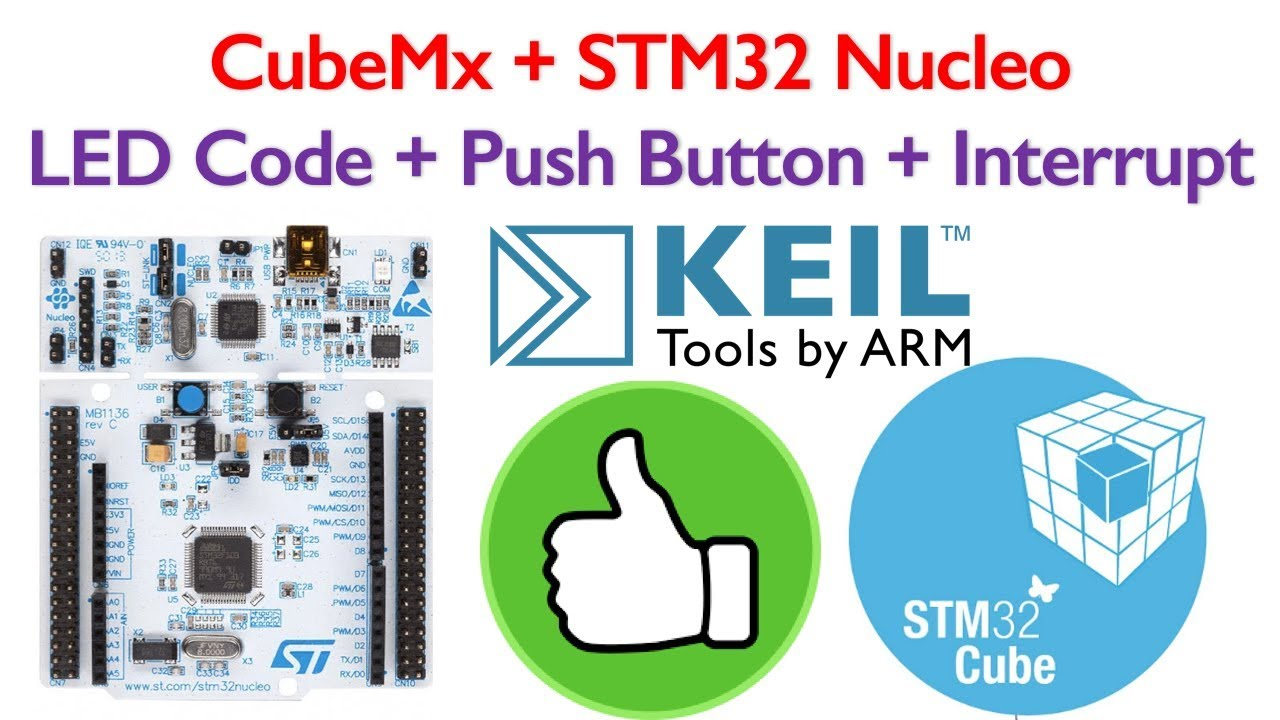 Stm32 nucleo tutorial 2 interrupt, push button and led code.