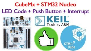 STM32 Nucleo Board Programming 2- Interrupt, PUSH Button and LED code generation using STM32CubeMx