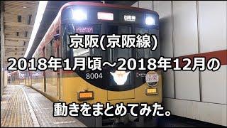 京阪 (京阪線) 2018年1月頃~2018年12月の動きをまとめてみた。【 4K 】