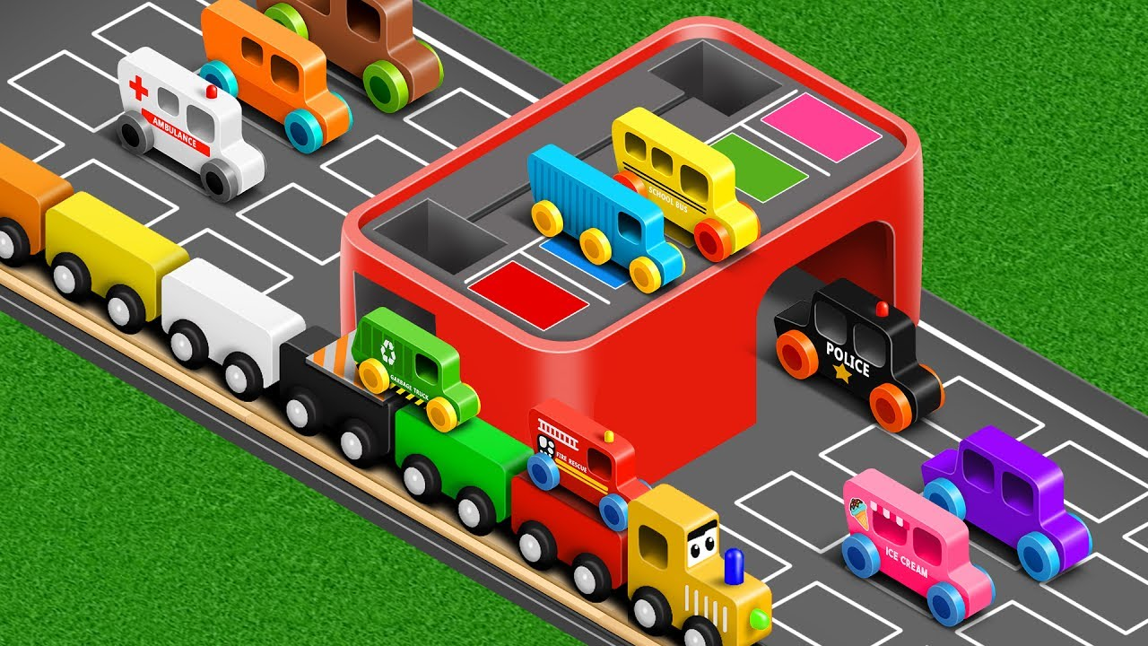 Colors For Children To Learn With Street Vehicles Colours Collection For Children Youtube