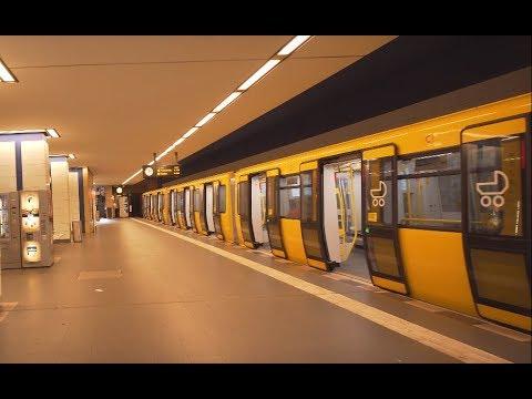 Germany, Berlin, U-Bahn ride from Pankow to Senefelderplatz