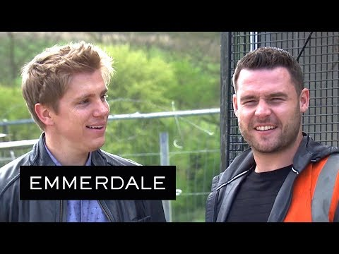 Emmerdale - Robert and Aaron Crush Ross's Taxicab