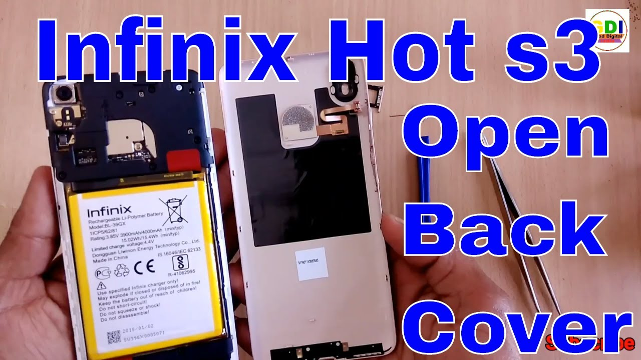 How to Open Back Cover Infinix Hot s3 | Remove Back cover Infinix Hot s3 |  Disconnect Battery Hot s3