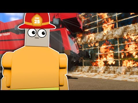 LEGO FIREFIGHTERS FIGHT FIRES! - Brick Rigs Multiplayer Gameplay - Firefighter Rescue Roleplay