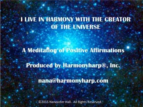 I Live In Harmony With The Creator Of The Universe