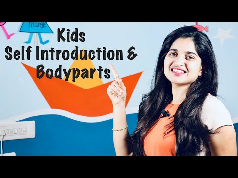 How to teach body parts & Self introduction to kids with action | Kidzee preschool Online Classes