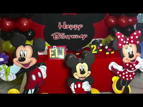 Mickey Mouse Birthday Cake Table Decor (complete Decoration)