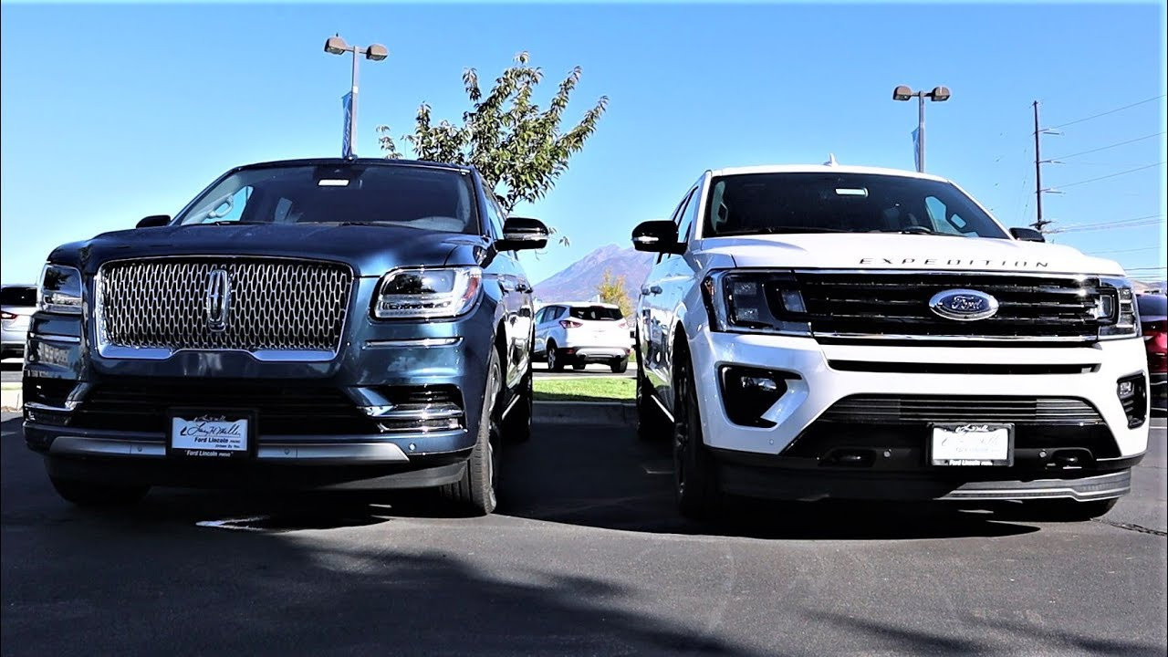 2019 Lincoln Navigator Vs 2019 Ford Expedition Is The Navigator Worth 15 000 More