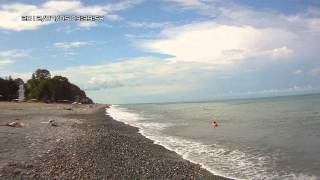Абхазия. Агудзера. Пляж