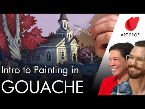 Intro to Basic Gouache Painting Techniques
