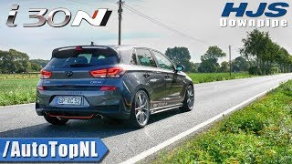 HYUNDAI i30 N LOUD! HJS Downpipe   EXHAUST SOUND TUNNEL & 250km/h ONBOARD by AutoTopNL
