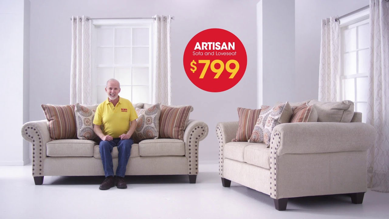 Get The Artisan Sofa Loveseat For 799 At Bob S Discount Furniture