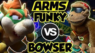ABM: Funky Kong Vs Bowser !! ARMS Gameplay Match !! HD