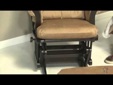 Dutailier Sleigh Glider   Espresso U0026 Velvet Taupe   Product Review Video