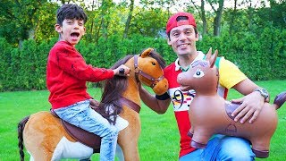 Jason Play with Ride On Horse Toy
