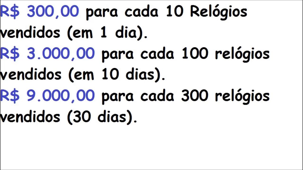 6afb3aa0fbc Como Ganhar Dinheiro Vendendo Relogio na Rua (C. de I.  56 ). - YouTube
