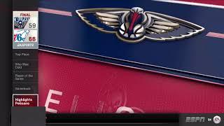 GAME 61 PHILADELPHIA 76ERS 37-23   AT NEW ORLEANS PELICANS 36-25  THE NBA SEASON 6 2020