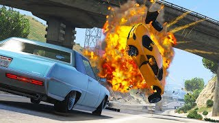 This video features Car Engine Explosions in GTA 5 and High Speed C...