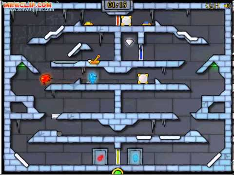 Miniclip Ice Temple [FireBoy & WaterGirl] Level 35 Guide