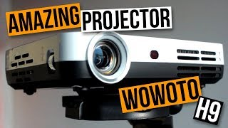 Latest & Greatest HD Mini DLP Android Smart Projector Review - Wowoto H9 3D Mini Smart Projector