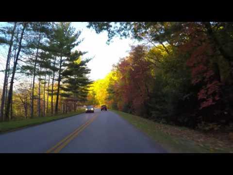 Blue Ridge Parkway Shortcut Across Asheville, NC - Fall Foliage