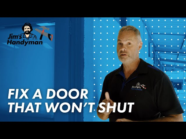 How to fix a door with Tim from Jim's Handyman - www.jims.net - 131 546