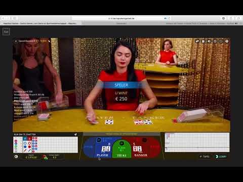Easy 150 Euro win vs Live Casino - Baccarat in 2 min