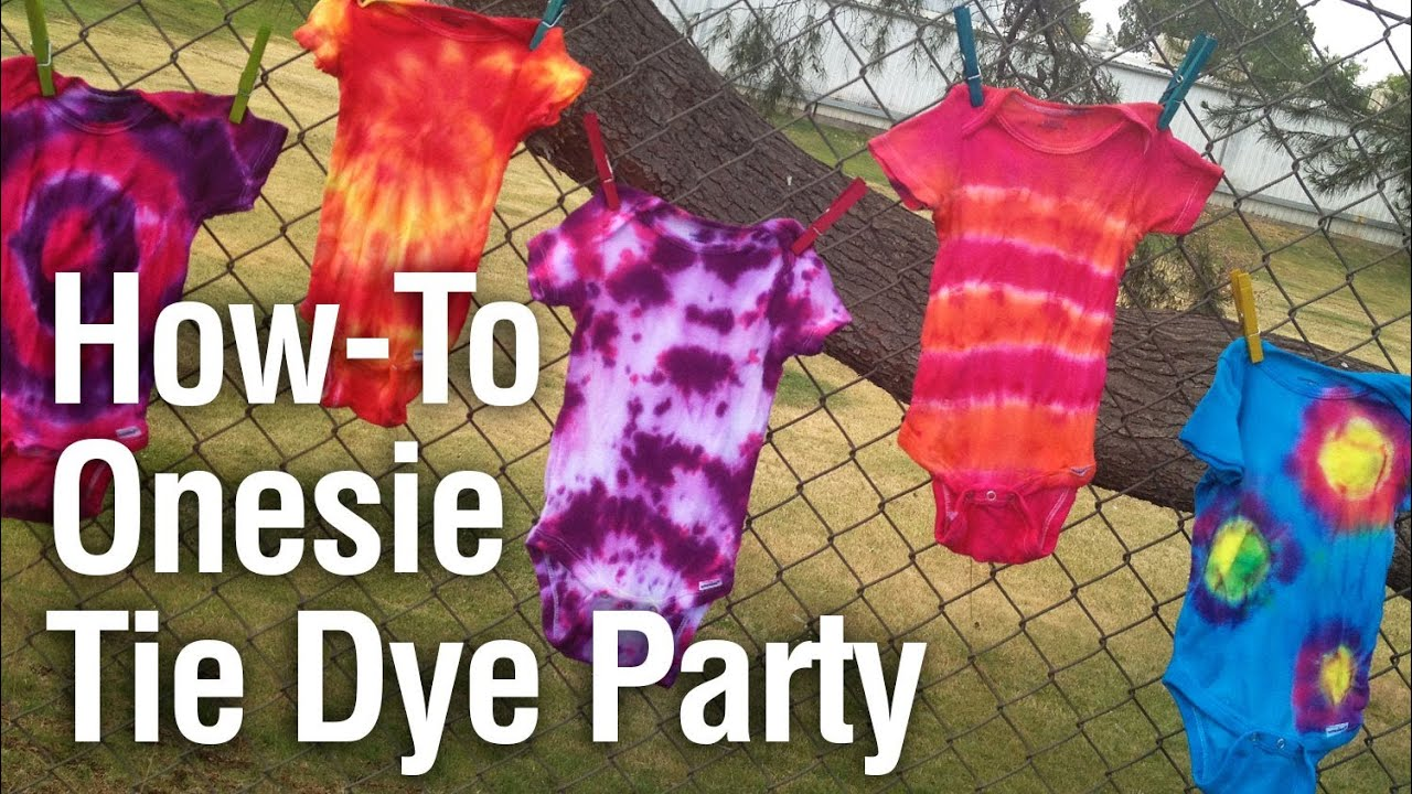 97062c2c45aaa2 How-to Throw a Onesie Tie-Dye Party - YouTube