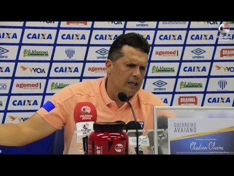 Coletiva Claudinei Oliveira - Avaí 2 x 2 Goiás - Copa do Brasil - 11/04/2018
