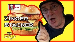 KFC Zinger Stacker Taste Test & Drive Thru Review + Shoutouts