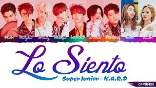 Super Junior - 'Lo Siento ft. K.A.R.D' Lyrics (Color Coded Han-Rom)
