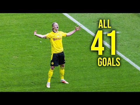 Erling Haaland All 41 Goals In Season 2020/21 HD