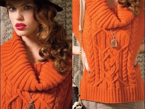 #15 Cowl Neck Top, Vogue Knitting Fall 2012 - YouTube