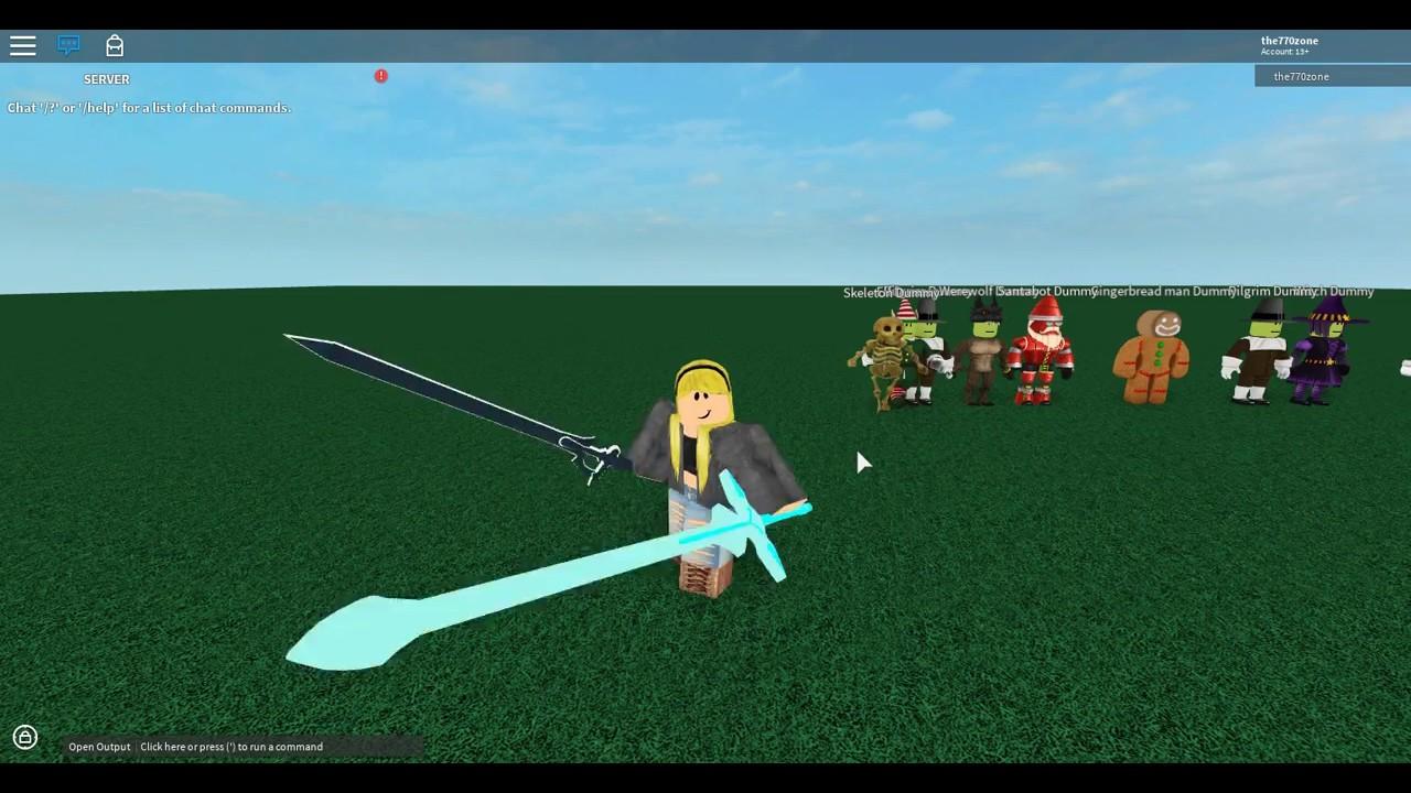ROBLOX SCRIPT SHOWCASE: Kirito Blades by VengefulProgram