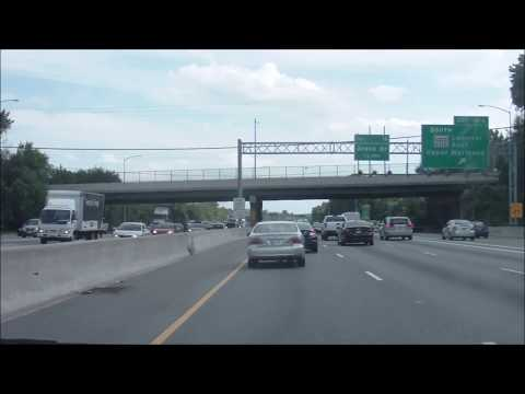 Driving through Downtown Washington D.C. on Interstate 95 South