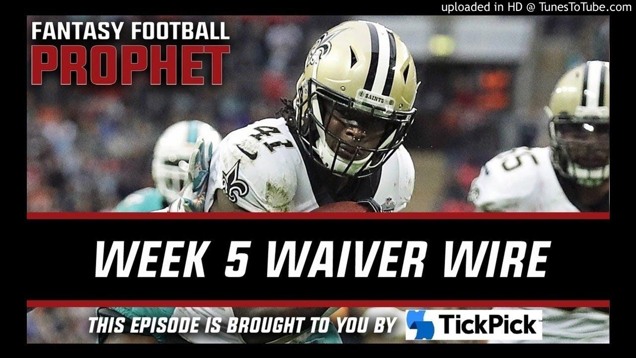Week 5 Waivers - Fantasy Football Podcast 2017 - YouTube