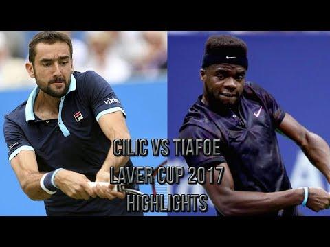 Marin Cilic Vs Frances Tiafoe - Laver Cup 2017 (Highlights HD)
