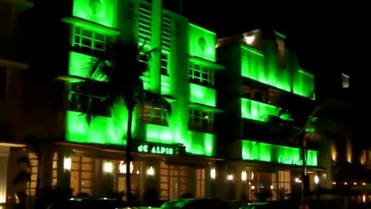 Ocean Drive At Night Miami Beach Jan 27 28 2015 HD
