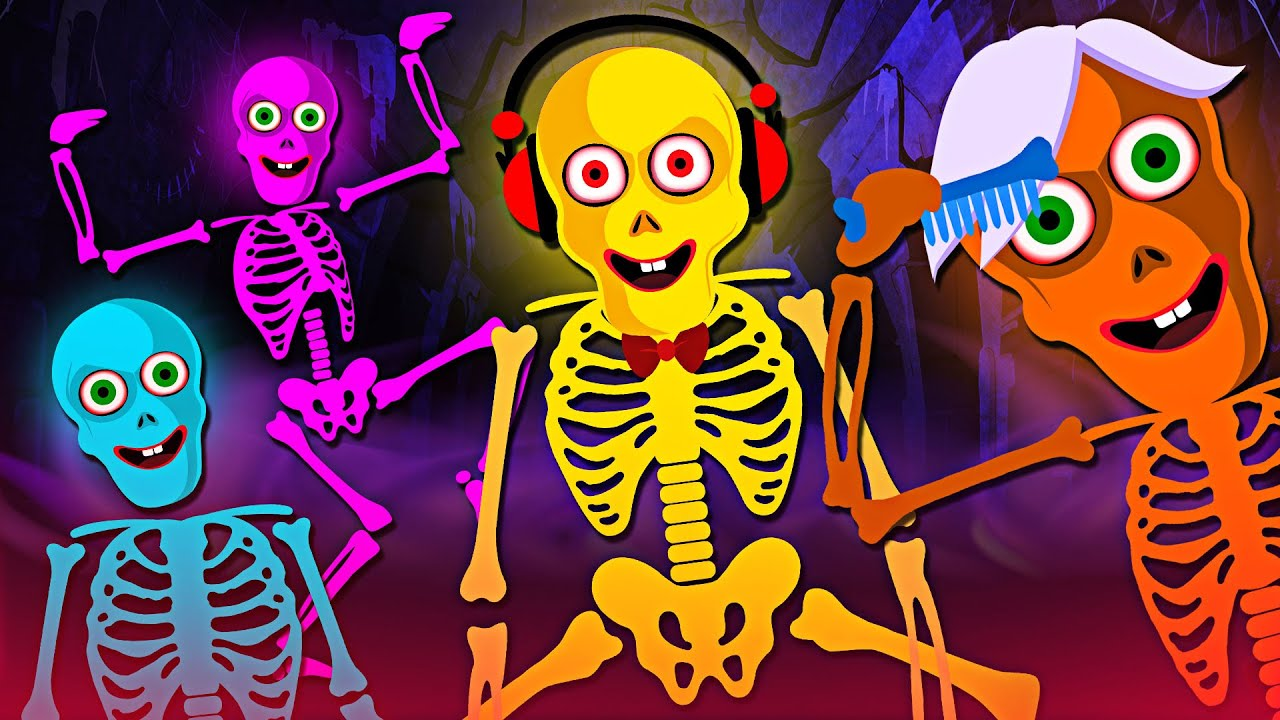 Midnight Magic With Funny Skeleton | Funny Nursery Rhymes & Skeleton Dance  For Kids