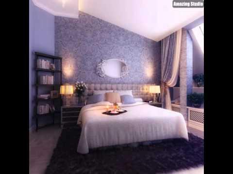 Blau Creme Schlafzimmer Dekor - YouTube