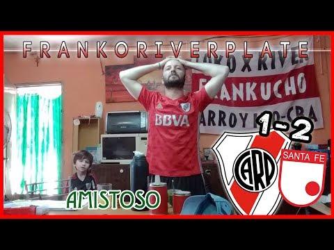 River 1 Independiente Santa fe de Bogota 2 | Reacciones de un Hincha de River | Amistoso