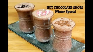 Homemade Hot Chocolate Recipe - Winter Beverage - Easy Hot Chocolate Shots - Kids party drink