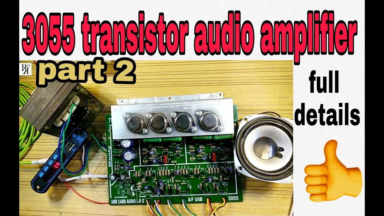 Audio Amplifier Circuit Wiring Data Rack 2n3055 Transistor Full Details 100 Rh Youtube Com Fuses Home