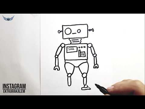 Kolay Robot Nasil Cizilir Kolay Resim Cizimi Youtube
