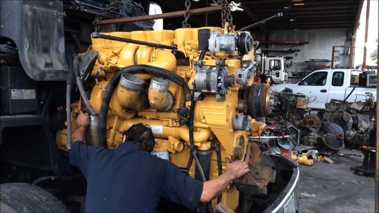 3406e Starter Wiring Diagram Cat C15 Engine Swap In A Peterbilt Truck Youtube