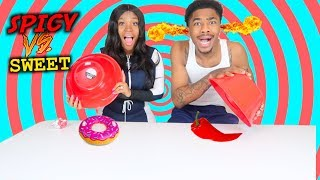 SPICY VS SWEET CHALLENGE ‼️ tay and jass